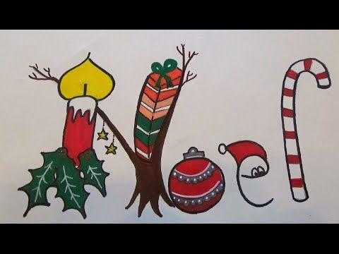 Noël carte dessin avec bougie, cadeau, bonnet de Père Noël