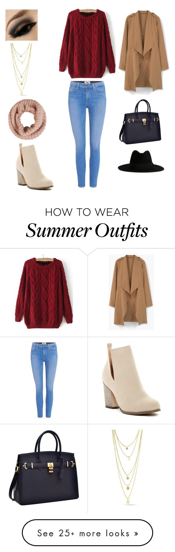 """Fall Outfit"" by musicmagic38 on Polyvore featuring Paige Denim, MANGO, Chase & Chloe, Yves Saint Laurent and Accessorize"