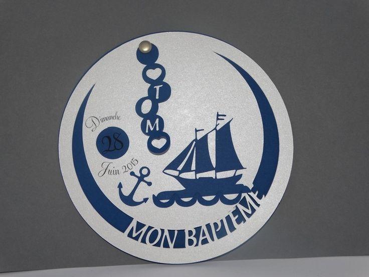 Faire part naissance cercle marine : Autres papeterie par scrap83
