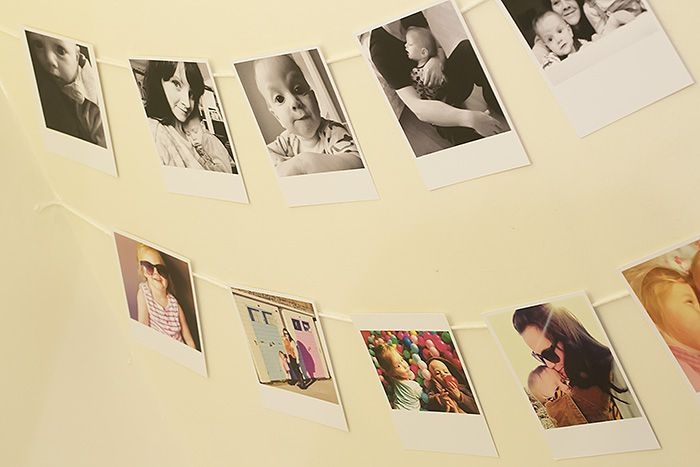 Instagram Bunting - polaroid Style prints from square-snaps.com