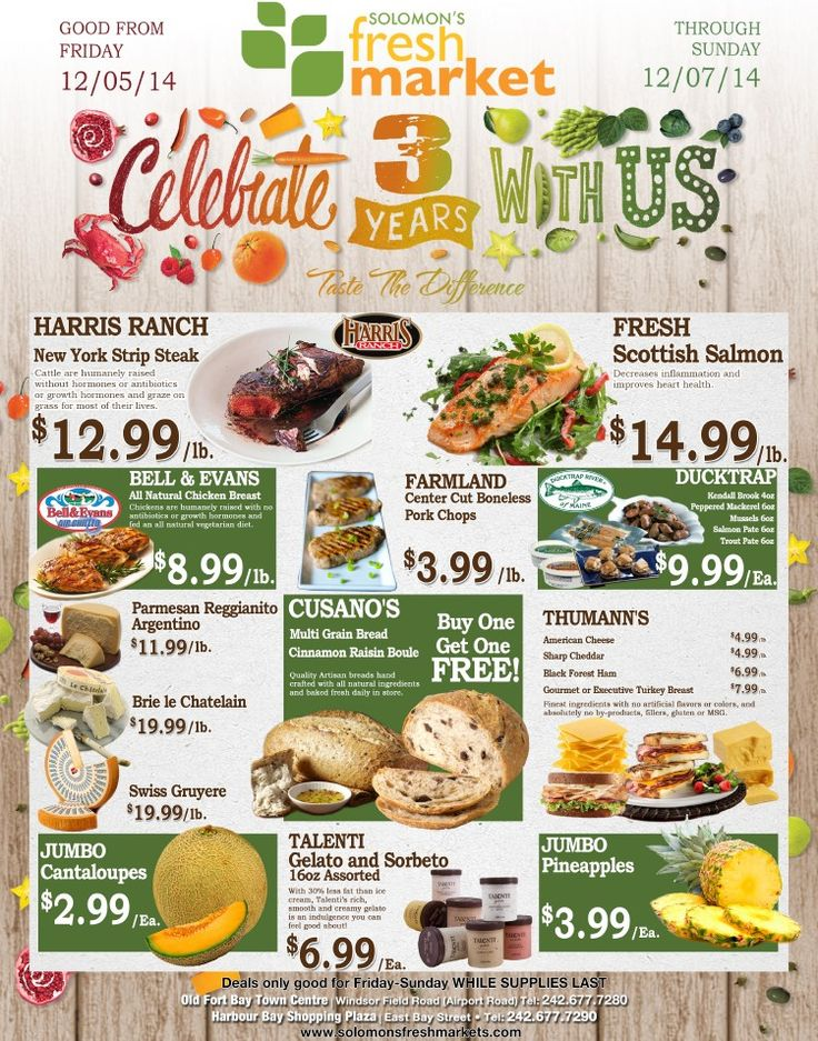 Weu0027re 3 Years Old And We Want To Celebrate! Join Us And Get Great Savings  At Solomonu0027s Fresh Markets U202a U202a U202a U202a U202au202cu202cu202cu202cu202c