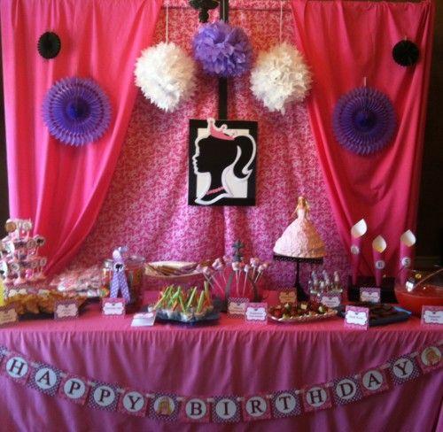 birthday barbie party 21st birthday barbie princess princess party ...