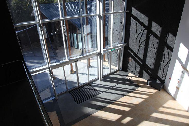 Sun drenched Waitangi Museum Foyer