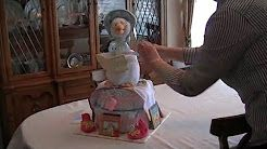 diaper cake - YouTube