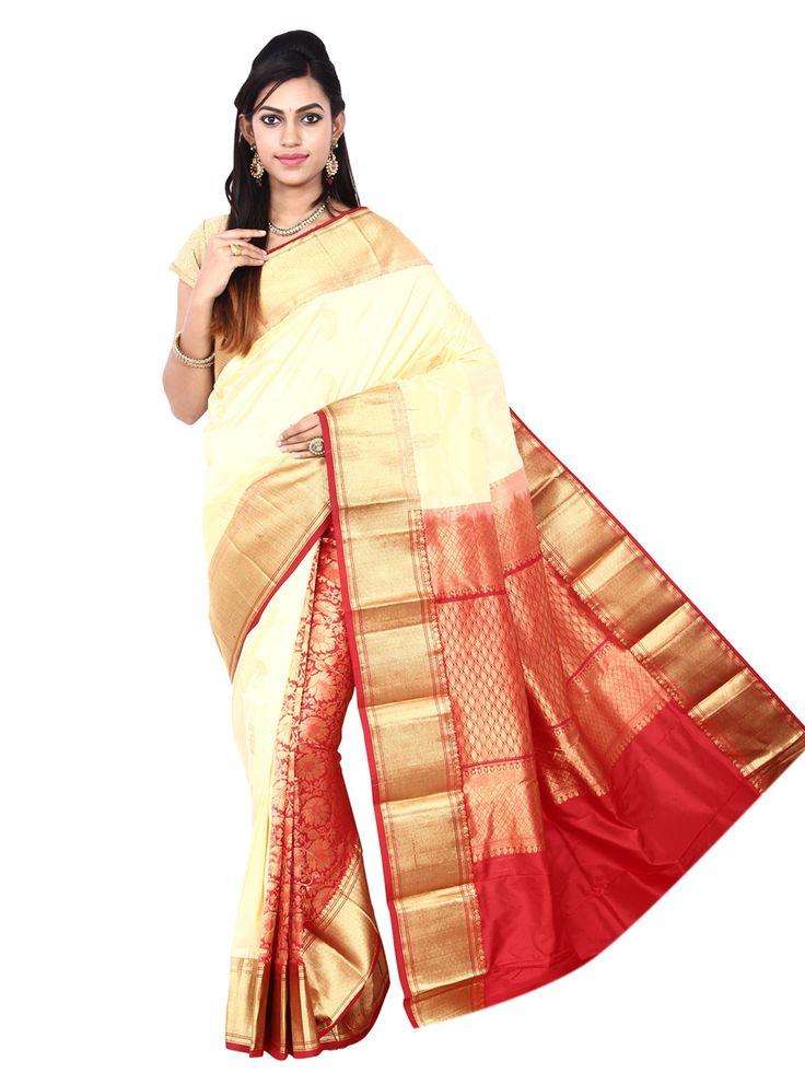 Kanchipuram Handwoven Pure Silk Potly Pallu Saree