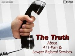 it is time for consumers to learn the whole truth about 411-Pain, 411-pain attorneys and lawyer referral services in general. A majority of the finest personal injury attorneys in the State are not associated with any lawyer referral service. The vast majority of the top personal injury and civil trial lawyers in the Tampa Bay area have no affiliation with any lawyer referral service.   #personalinjury #personalinjuryattorney #injurylawyer #law