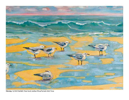 2015 Landscape Calendar | The Art Map Clamming by Patti Waterfield - April