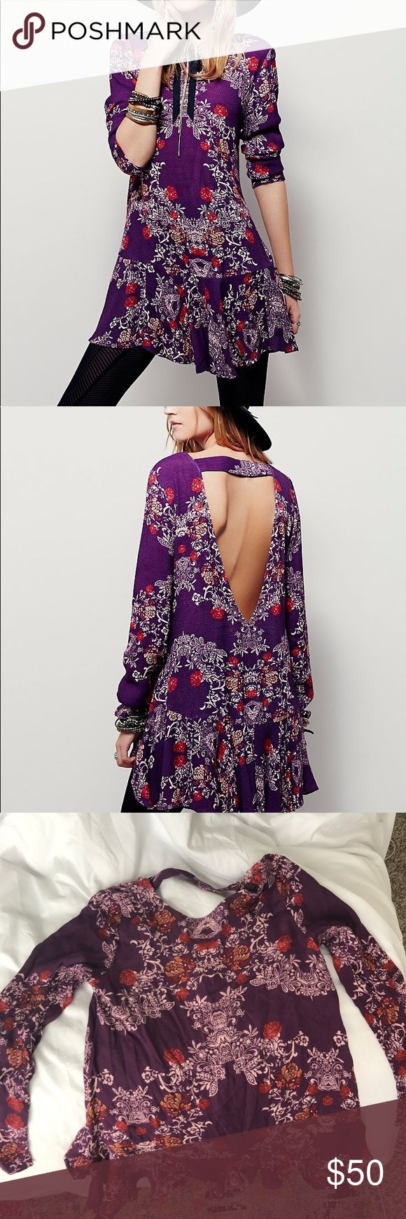 Free People Smooth Talker Floral Print Tunic Size S. Worn once. Free People Tops Tunics