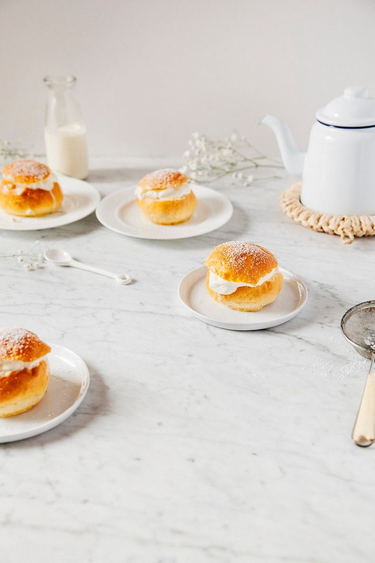 swedish marzipan cream buns (semlor!) - hummingbird high | a desserts and baking blog