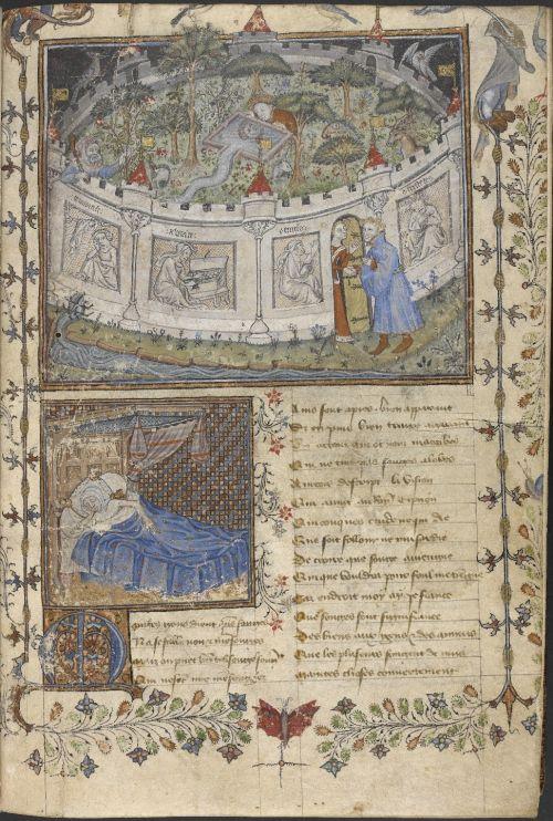 Le Verger de déduit (Le Roman de la rose, manuscrit Egerton 1069)