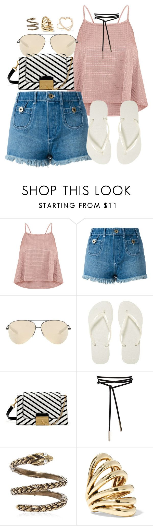 """""""Mulberry x Chloe"""" by muddychip-797 ❤ liked on Polyvore featuring Chloé, Victoria Beckham, Havaianas, Mulberry, Yves Saint Laurent, Lisa Eisner, Jennifer Meyer Jewelry, NYC, vacation and mulberry"""
