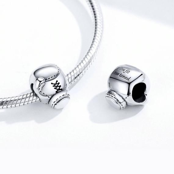 Boxing Dangling Charm Boxer Charm Boxing Charm Bracelet Boxing Glove Charm fits European and Brand Bracelets Boxing Dangle Charm