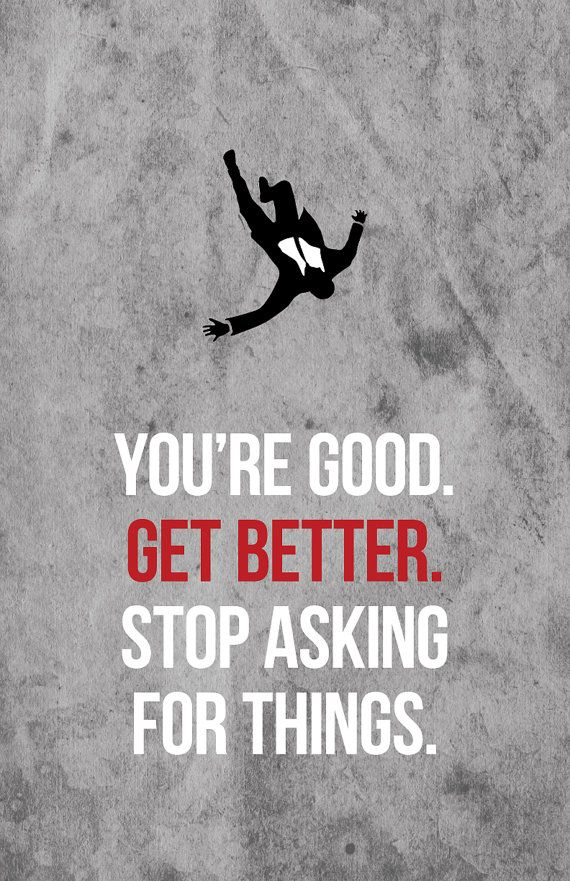 You're Good. Get Better. - Don Draper Mad Men Quote Print by lemonberryprints on Etsy