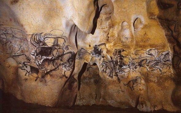 наскальные рисунки. пещера Шове, Франция
