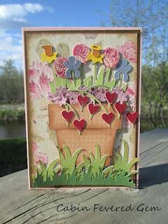 Walk in my Garden Cricut Card Design at Cabin Fevered Gem