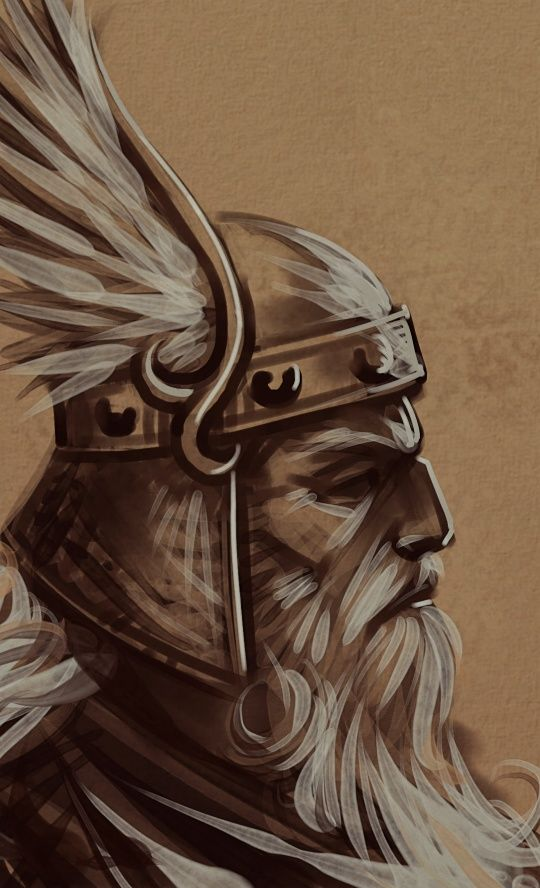 Painter IX.V & Wacom Intuos 4; ~2 hours, no ref; Music: Amon Amarth, Ensiferum Another quick value study, for that painting I mentioned before.