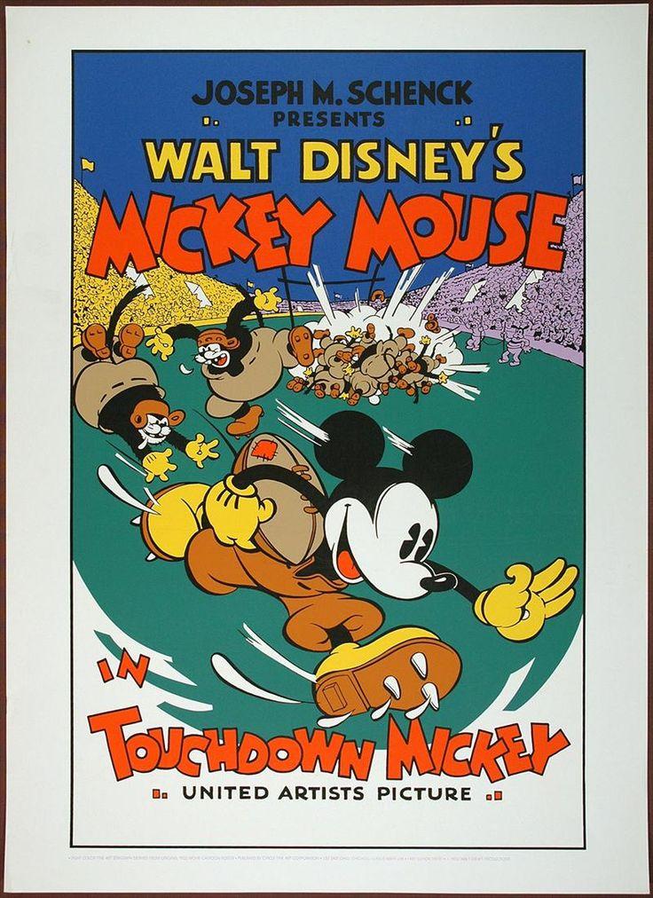 Disney / Circle Fine Art Mickey Mouse Touchdown Mickey