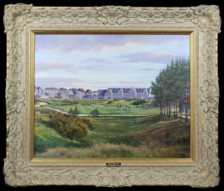 Donald Shearer The 16th Championship, Carnoustie Oils 24x30 | Scottish Contemporary Art