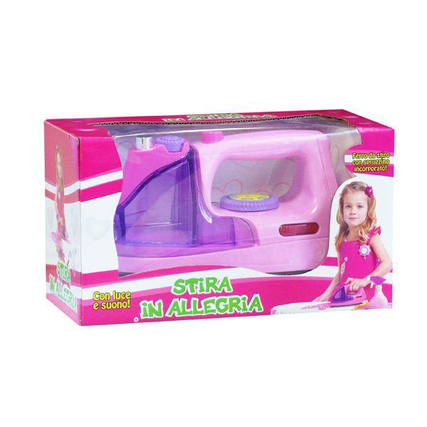 Ferro da stiro con luce e suono. La vostra bambina si divertirà a imitare la mamma che stira! Confezione a solo € 6,90!!!