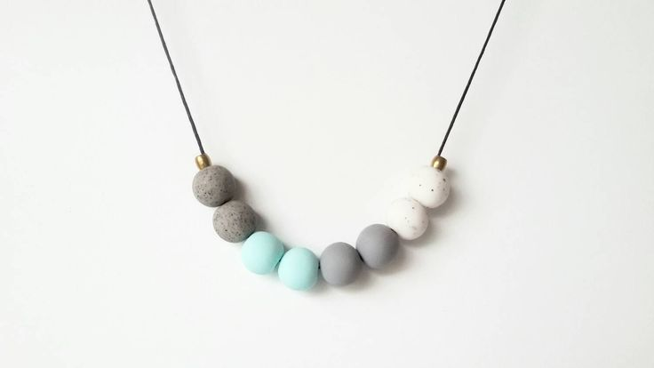A personal favourite from my Etsy shop https://www.etsy.com/au/listing/259138479/grey-tones-copper-beads-worh-pastel-mint