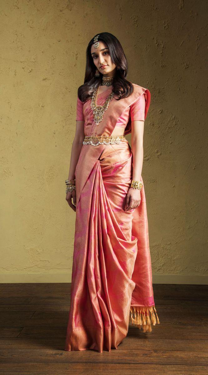 Launching Sumptuous Kanjeevarams And Jamdani Sarees Advaya By House Of Angadi S Uses Pure Gold Zari For I Saree Wearing Styles Dress Indian Style Saree Models