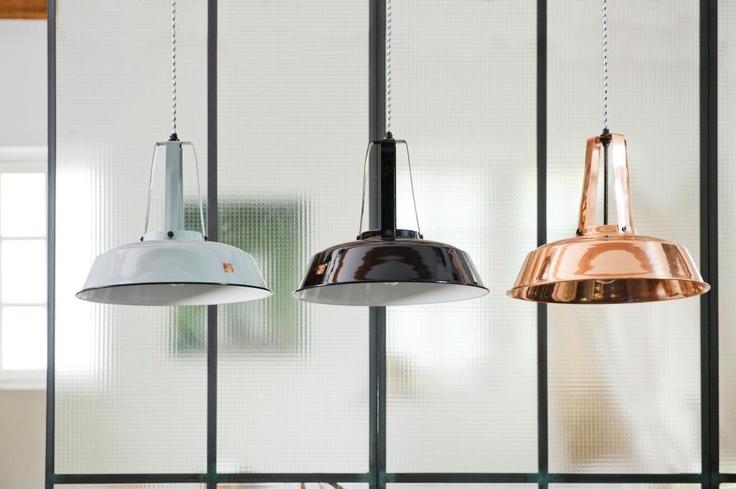 Hanglamp Industriële Workshop - S - Zwart - HK Living - Woonwebwinkel LiL.nl