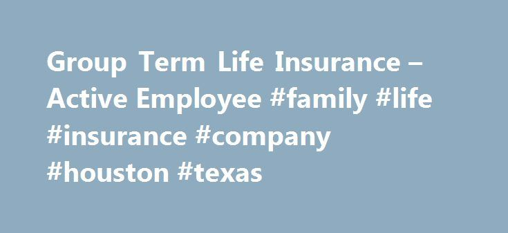 Group Term Life Insurance – Active Employee #family #life #insurance #company #houston #texas http://jamaica.remmont.com/group-term-life-insurance-active-employee-family-life-insurance-company-houston-texas/  # Group Term Life Insurance – Active Employee Life Insurance Benefits Effective September 1, 2016 Group term life (GTL) insurance can help ensure financial security for your family and loved ones upon your death. UT System, through the vendor Dearborn National, provides eligible…