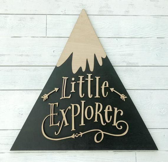 Your Little One Will Love These 8 Gender Neutral Nurseries: Large Laser Cut Sign