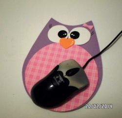 porta mouse en goma eva