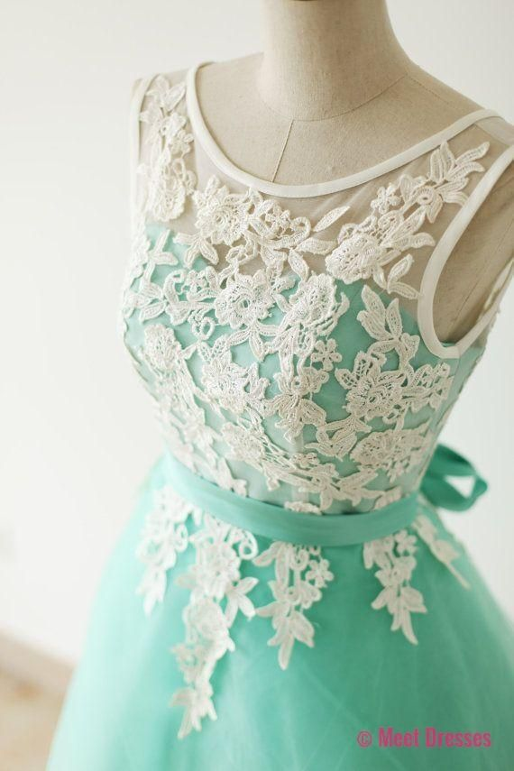 Lace Homecoming Dress,Lace Prom Dress,Cute Homecoming Dress,Mint Green Homecoming Dresses,Short Prom Dress,Simple Homecoming Gowns,Tulle Sweet 16 Dress Under 100 PD20183820
