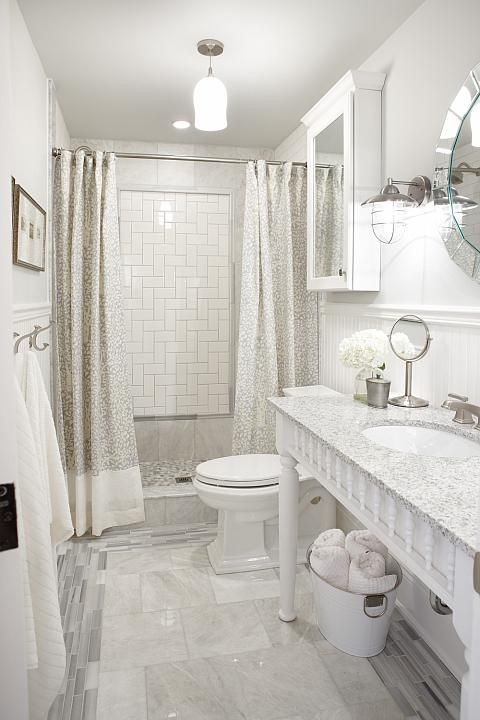 Polished iceberg marble floor subway herringbone wall for Small bathroom herringbone tile