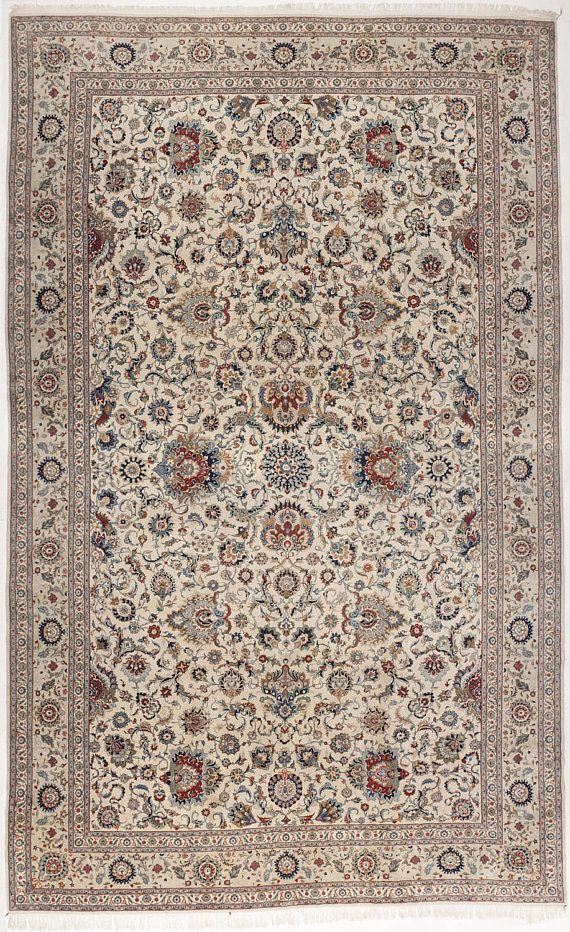 Antique Persian Kashan Palatial Rug