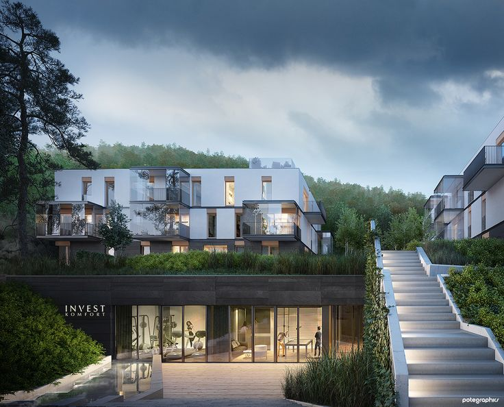 Potegraphics wizualizacja architektoniczna osiedla mieszkaniowego Potegraphics architecture visualization of residential area
