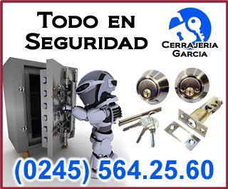 En la Cerrajeria Garcia c.a. estamos especializados en la Distribucion y Reparación de todo tipo de llaves en blanco, candados, cerraduras, cilindros, manillas, manillones antipanico, y productos de seguridad  y/o relacionados con la Cerrajeria. Encuéntranos en la  Calle Plaza entre Piar y Ricaurte, No. L20, Zona Centro, Guacara Edo. Carabobo. Llámanos al  (0245) 564.25.60.