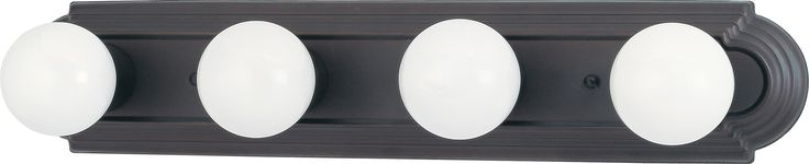 4-Lights Vanity Light Bar in Mahogany Bronze Finish