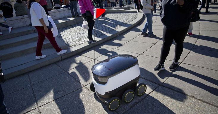 Virginia became the first state in the union on Wednesday to legally allow robots to use sidewalks.