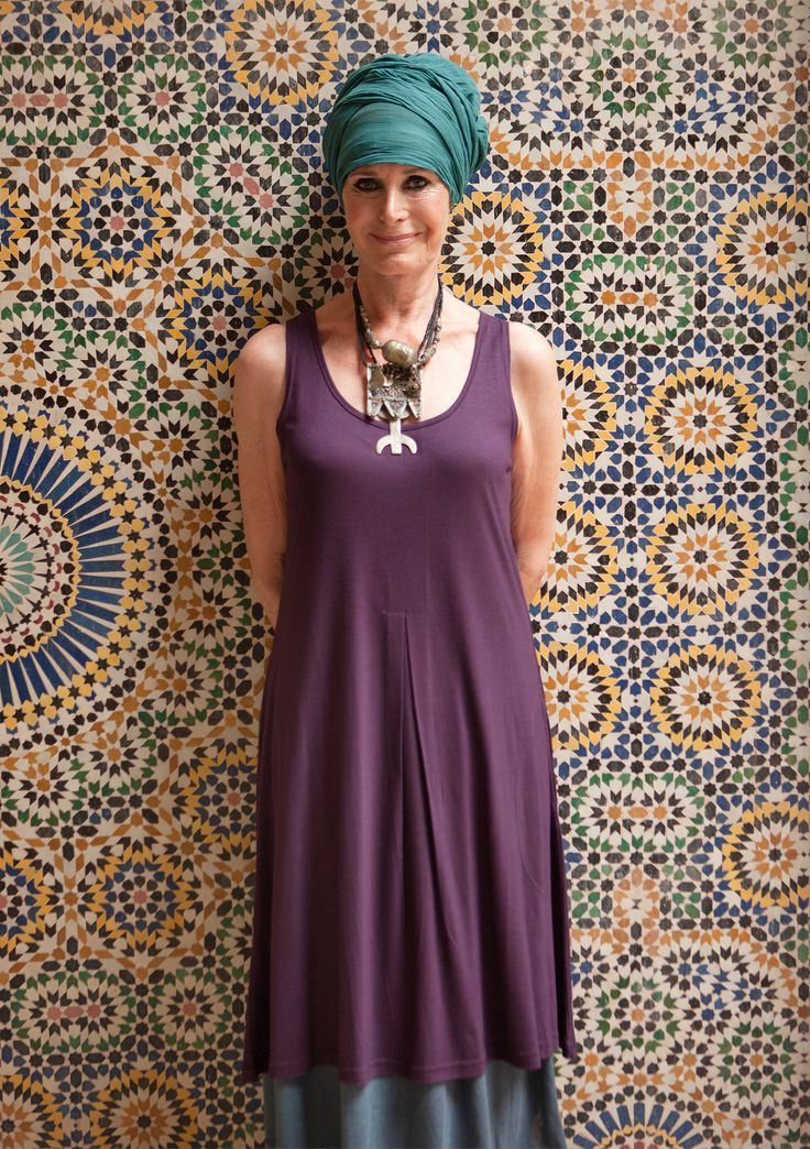 Sleeveless dress in modal – Size XXL – GUDRUN SJÖDÉN – Webshop, mail order and boutiques   Colorful clothes and home textiles in natural materials.