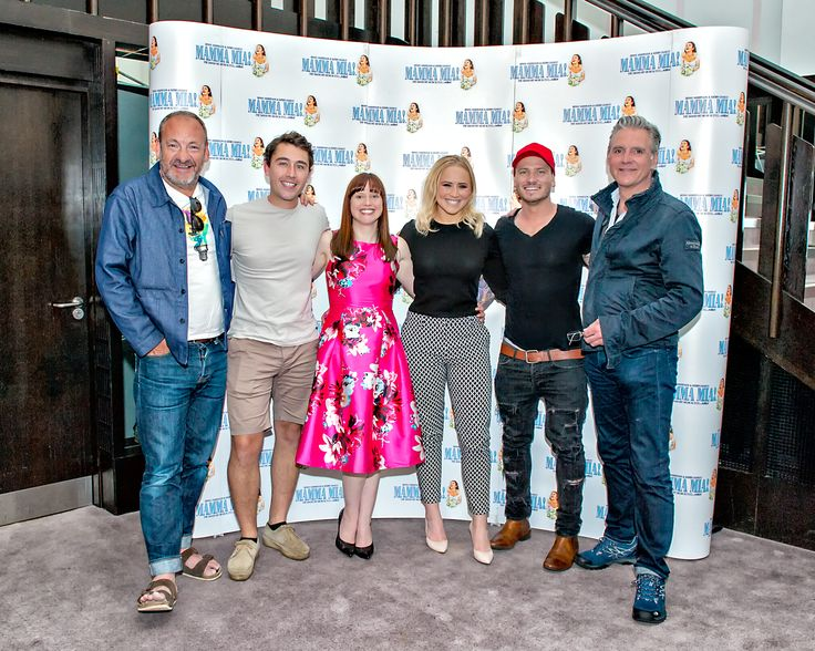 Nick Miles, Joe GIll, Karen Blick, Amy Walsh, Matthew Wolfenden and Michael Praed.  We ❤️ this f-ABBA-lous photo from the MAMMA MIA! UK Tour's Press Night on 31 May 2017 at Leeds Grand Theatre.  For all MAMMA MIA! UK Tour dates and tickets visit: www.mamma-mia.com  Photo by Anthony Robling.  #MammaMiaMusical #MammaMiaUKTour #Leeds #PressNight
