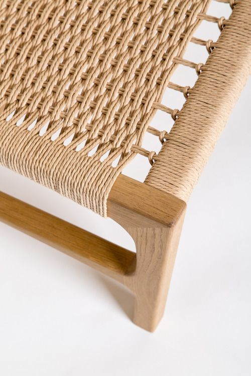 Juanjunca: U201cMilena   Easy Chair Handmade In Oak And Danish Cord U201d