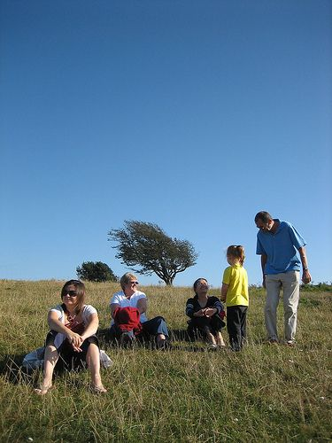 Relaxing at Devil's Dyke