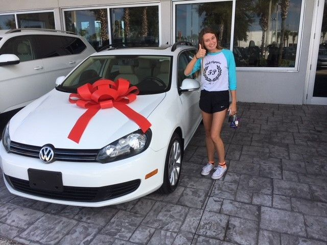Congratulations Thanks To Lacey On The Purchase Of Her New Volkswagen Jetta Wagon Lacey Worked With Our Team Me Volkswagen Jetta Volkswagen Daytona Beach