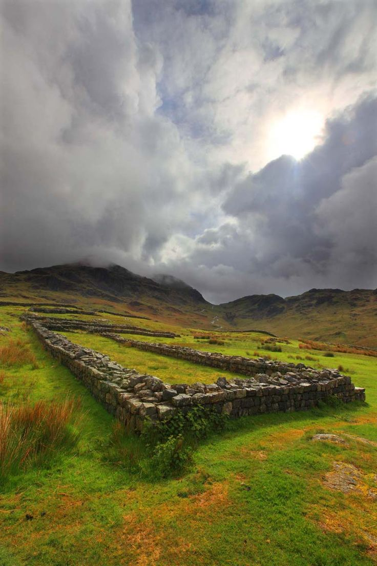 """Hardknott Roman Fort, Hardknott Pass, Lake District, Cumbria"" by Roger Clegg"