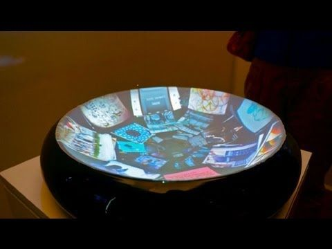 Display without Boundaries: Kinect Turns Bowl into a Touchscreen - IDF 2012 - YouTube