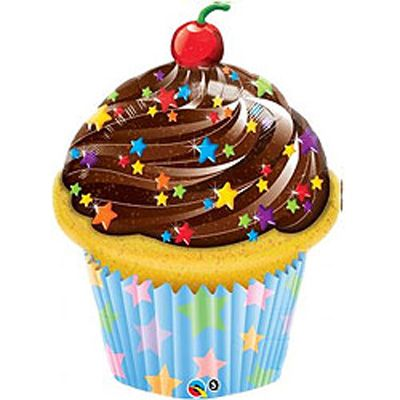 Chocolate Frosted Cupcake Balloon - See more at http://myhensparty.com.au/