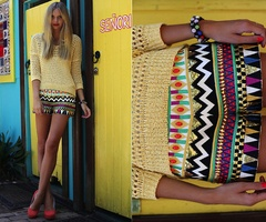 Tribal print shorts! TO DIE FOR!