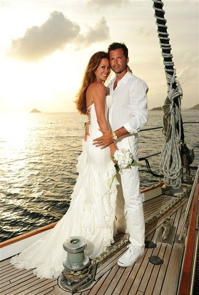Brooke Burke and David Charvet - married on S/Y Malaika!