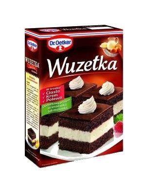 DR OETKER 525g Wuzetka  • tradycyjny polski przepis • ciasto i krem w gęstej polewie • nie zawiera konserwantów • prosty, sprawdzony przepis