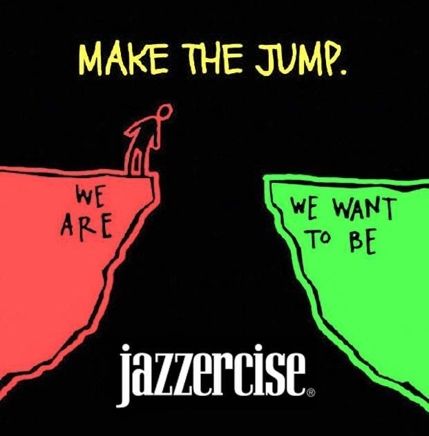 Make the jump | Jazzercise, Workout humor, Dance workout