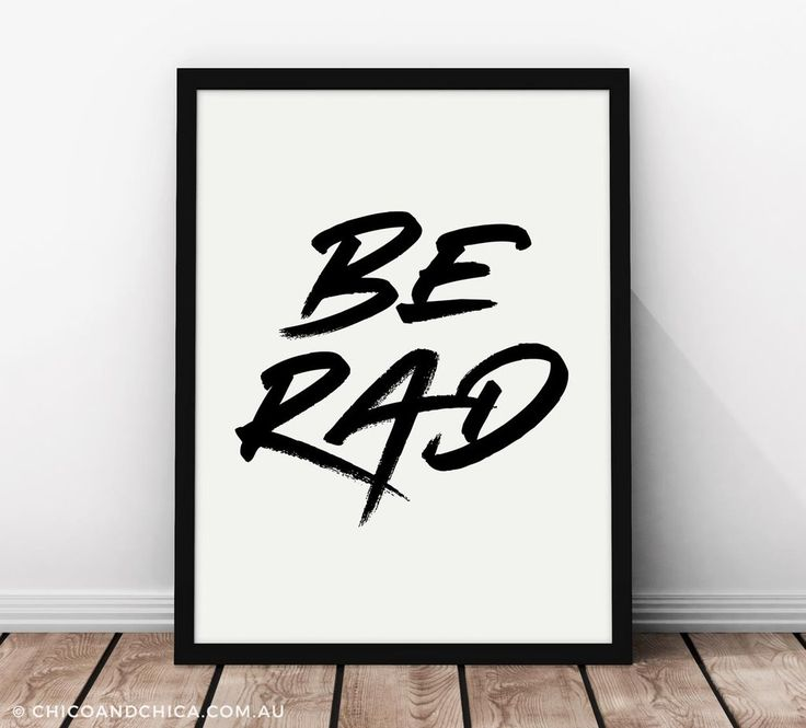 Typographical - Be Rad - Kids Print - Chico & Chica