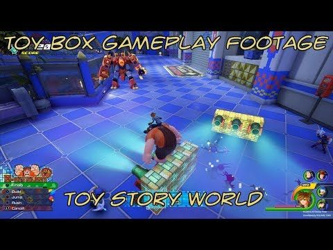 Hands On Footage Of Kingdom Hearts 3 Toy Box Toy Story World